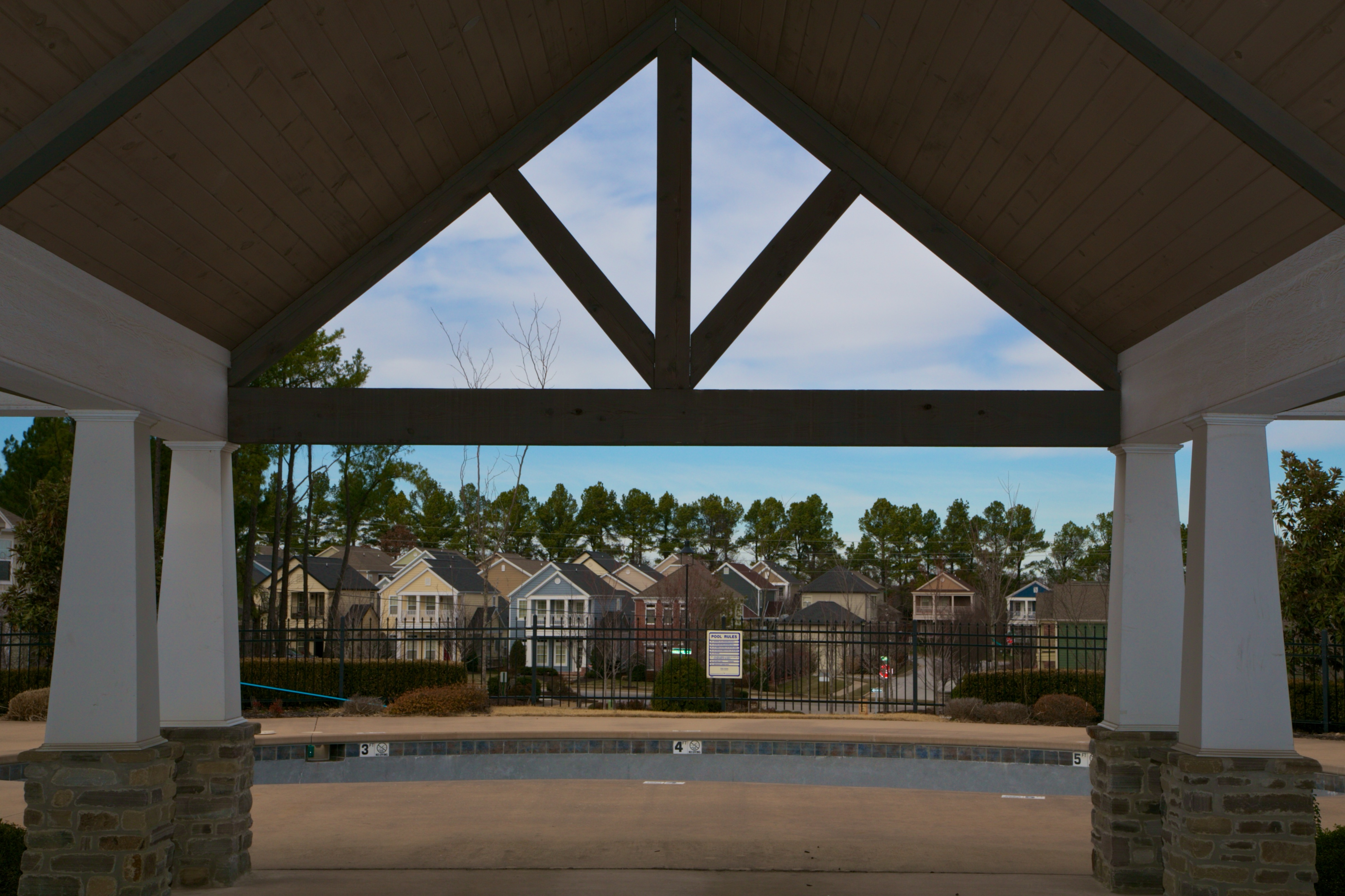 woodbury poolhouse view of cottage homes for sale
