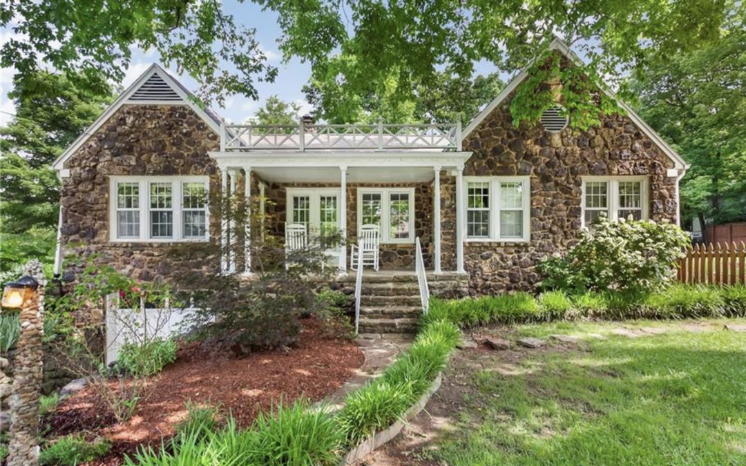Homes around Wilson Park in Fayetteville, Arkansas